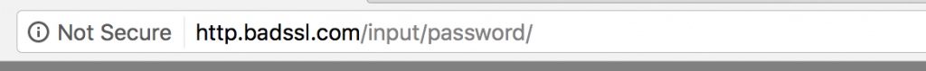 "Google Chrome Beta zeigt Website als ""Nicht Sicher"" an."