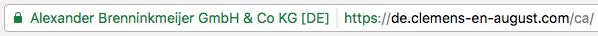 Enhanced Validation SSL Zertifikat