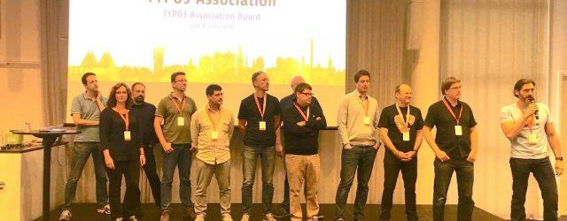 TYPO3 Association auf der Bühne bei den T3DD17